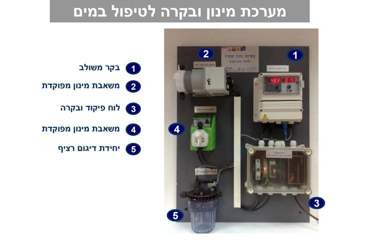 מערכת מינון ובקרה לטיפול במים